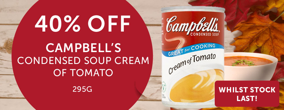 Campbells Tomato Soup 40% off
