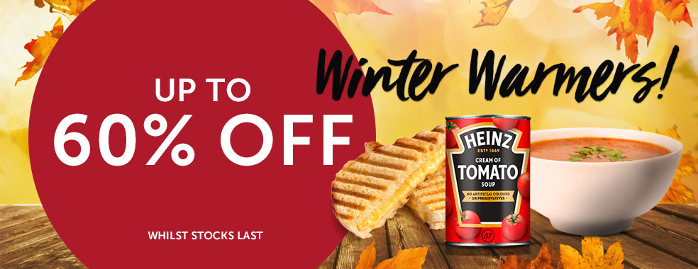 Winter Warmers Up to 60 per cent off!