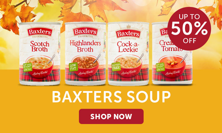 50% off Baxters Soup