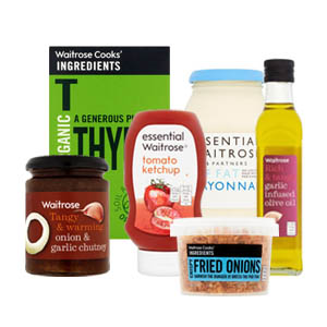 Browse Waitrose Condiments