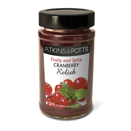 Image of Atkins & Potts Spicy cranberry Relish