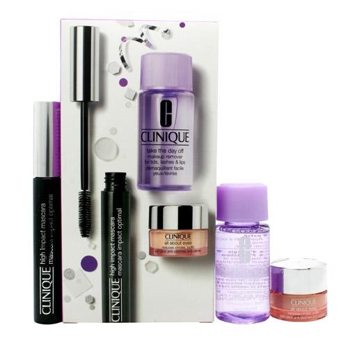 Clinique Gift Set 7ml High Impact Mascara - Black + 5ml All About Eyes Eye Cream (50g)