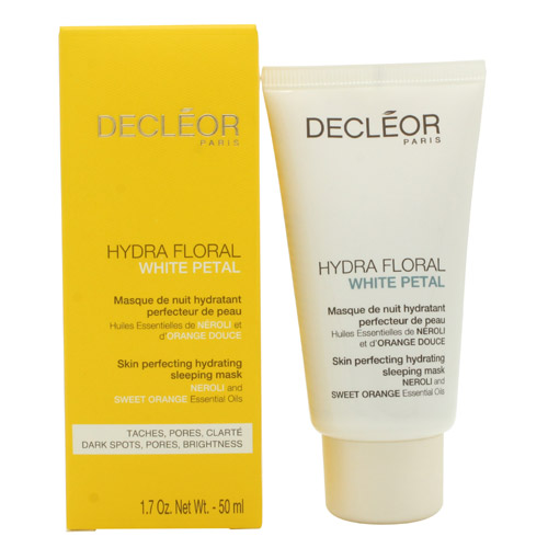 03852b290 Decleor Hydra Floral White Petal Skin Perfecting Hydrating Sleeping Mask  50ml (50g)