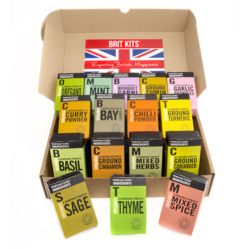 Brit Kit image including Waitrose Global Spice Mix products