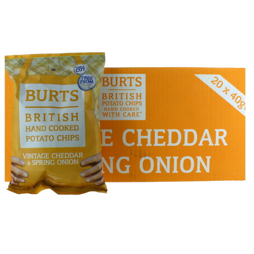Burts Vintage Cheddar And Spring Onion Potato Chips X20