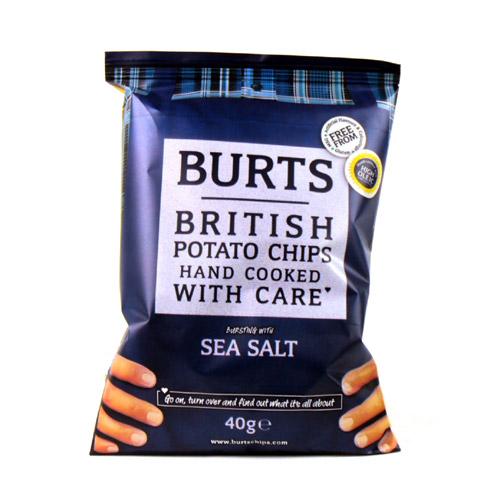 Burts Sea Salt Potato Chips X20