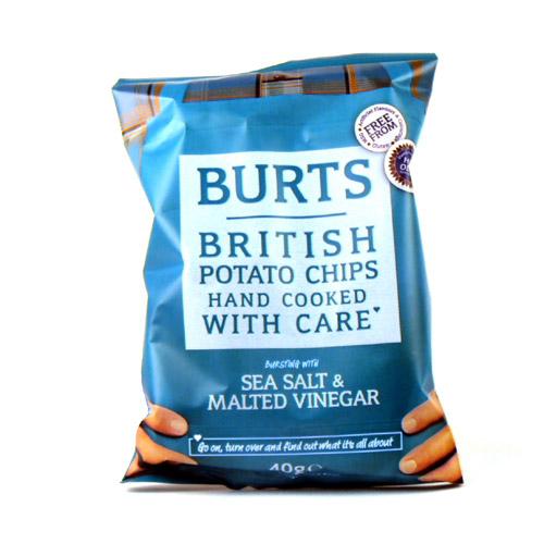 Burts Sea Salt And Malted Vinegar Potato Chips X20