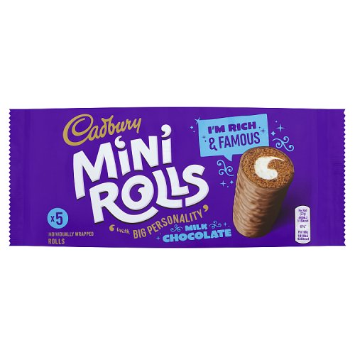 Cadbury Mini Chocolate Rolls 5 Pack