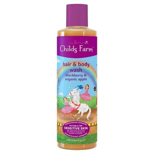 Childs Farm Hair & Body Wash Double Act Blackberry & Organic Apple