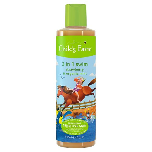 Childs Farm 3 in 1 Top To Toe After Swim Care Strawberry & Organic Mint