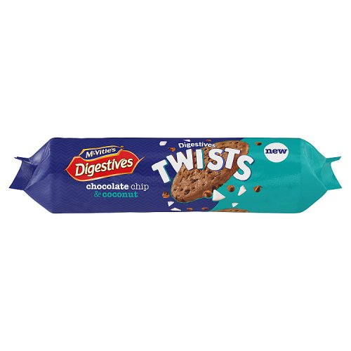 Mcvities Digestive Twists Chocolate Chip and Coconut