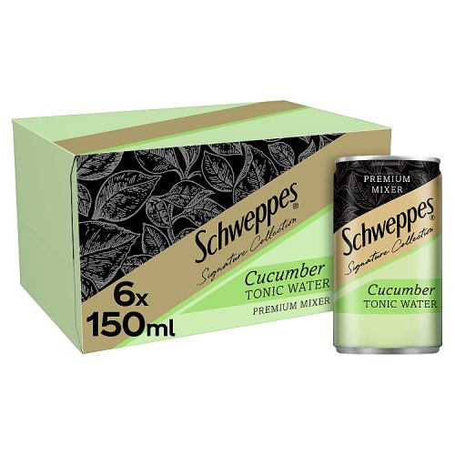 Schweppes 1783  Quenching Cucumber Tonic Water Cans 6 x 150ml