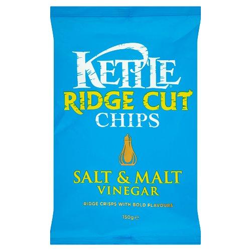Kettle Ridge Crisps Salt And Malt Vinegar