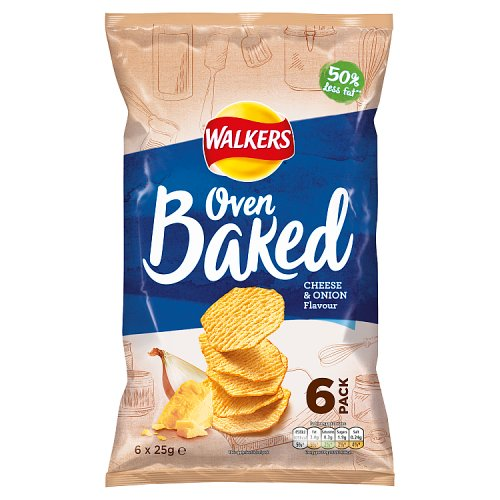 Walkers Baked Cheese and Onion Crisps 6 Pack