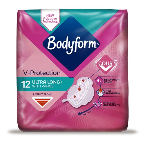 Bodyform Ultra Fit Towels Super Wings 12 Pack
