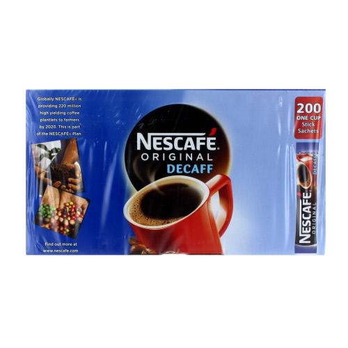 Nescafe Original Decaffeinated One Cup x 200 Sticks