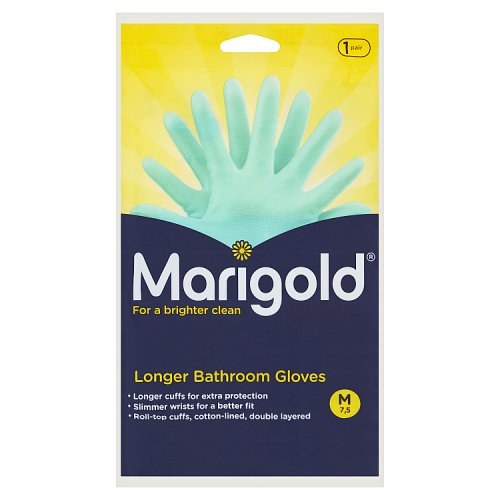Image of Marigold Bathroom Gloves Medium