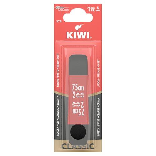 Image of Kiwi Round Black Laces 75cm 5 Hole
