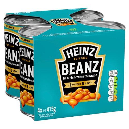 Heinz Baked Beans 4 Pack - Tinned Beans