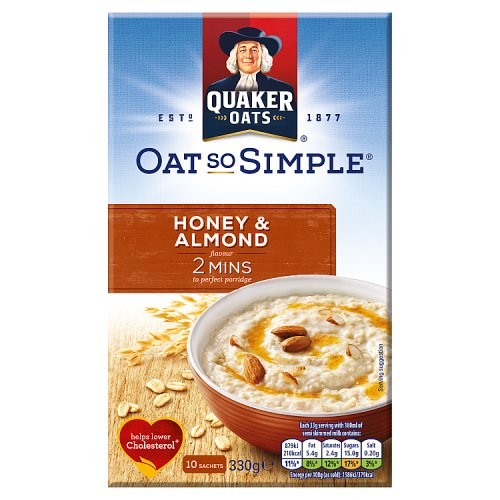 Quaker Oat So Simple Honey & Almond