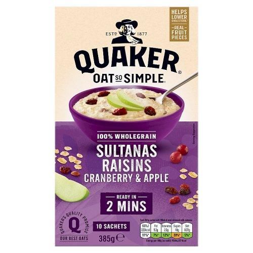 Quaker Oat So Simple Apple Sultana Raisin & Cranberry