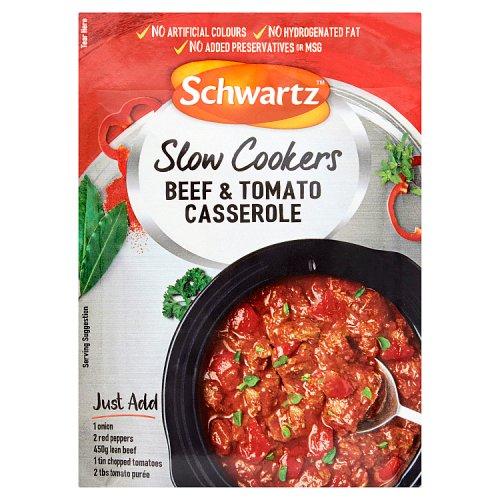 Schwartz Slow Cookers Beef & Tomato Casserole