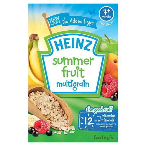 Heinz 7 Month Summer Fruits Cereal Packet