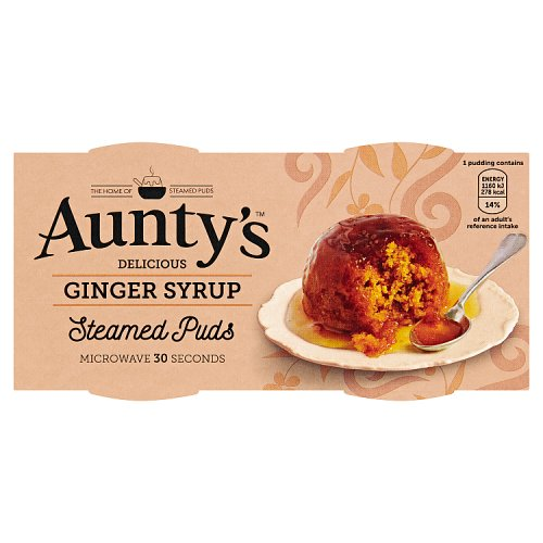 Auntys Ginger Syrup Puddings 2 Pack