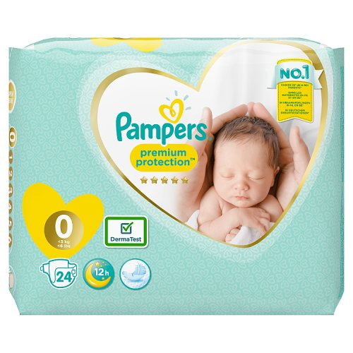Pampers New Baby Total Care Size 0 Micro 24 Pack