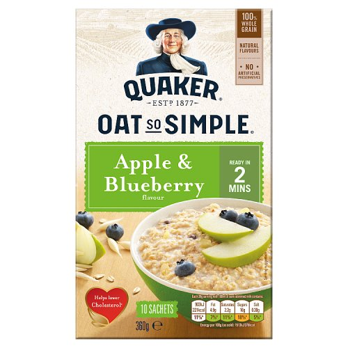 Quaker Oat So Simple Apple and Blueberry