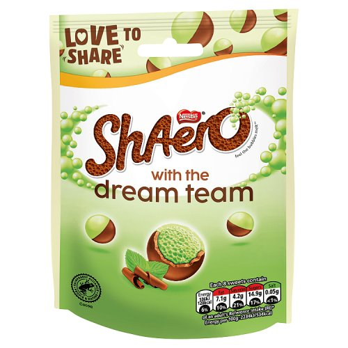 Aero Mint Chocolate Bar Nutrition