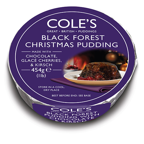 Coles Black Forest Christmas Pudding