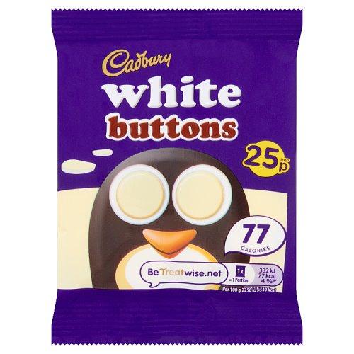 Cadburys White Buttons Chocolate Single Bar
