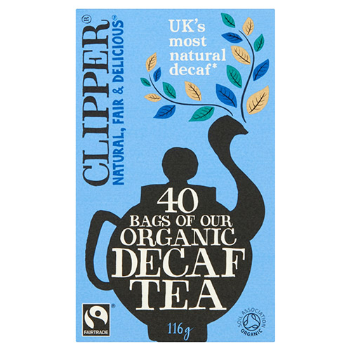 Clipper Organic Naturally Decaffeinated 40 Tea Bags