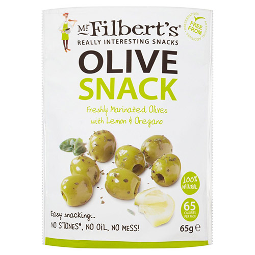 Mr Filberts Lemon & Oregano Pitted Green Olives