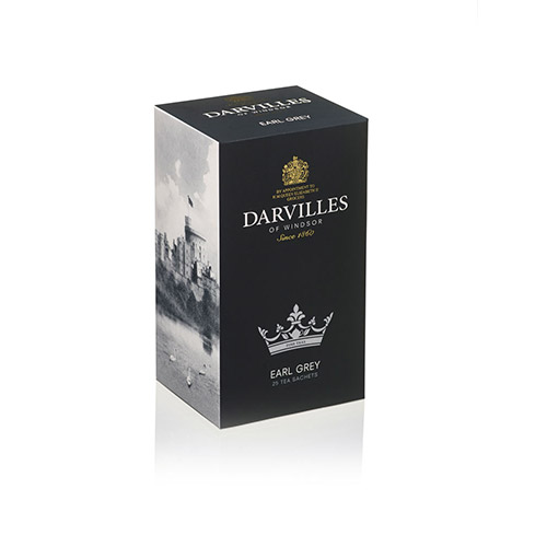 Darvilles Of Windsor Earl Grey Tea 25s Tag and Envelope