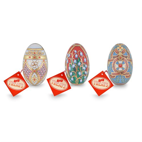 Tin Treats Russian Egg Tin with Chocolate Eggs 1 Supplied