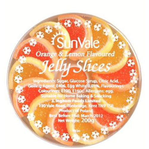 Sunvale Orange and Lemon Flavoured Jelly Slices