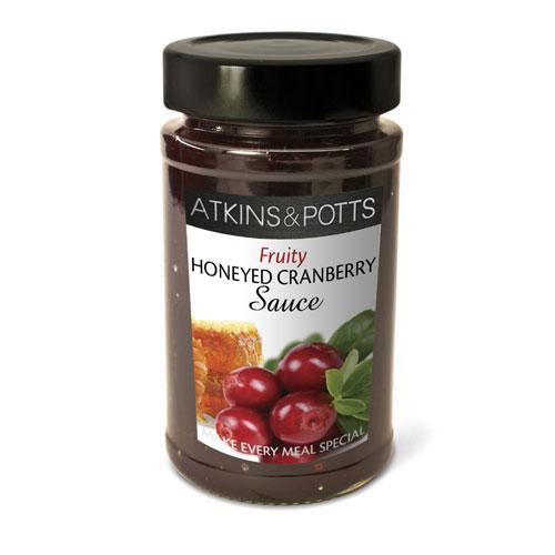 Image of Atkins & Potts Honeyed Cranberry Sauce