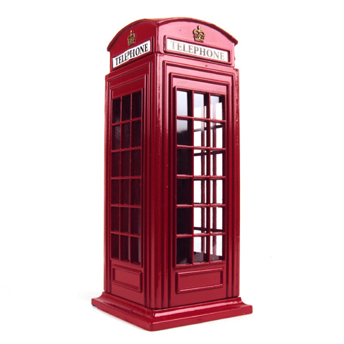 Telephone Box Die Cast Money Box