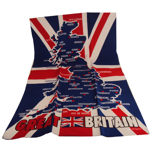 Image of Great Britain Map Tea Towel