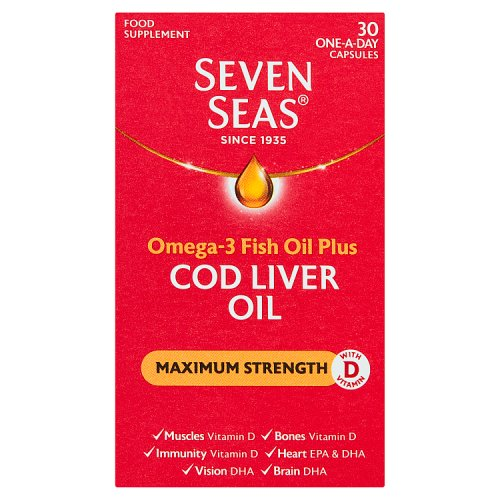 Seven Seas Cod Liver Oil Max Strength 30 Capsules