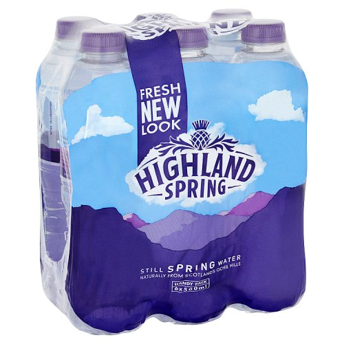 Highlands Spring Still Spring Water 6x500ml