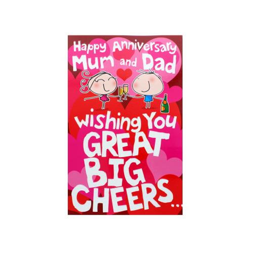 Image of Happy Anniversary Mum & Dad Big Cheers