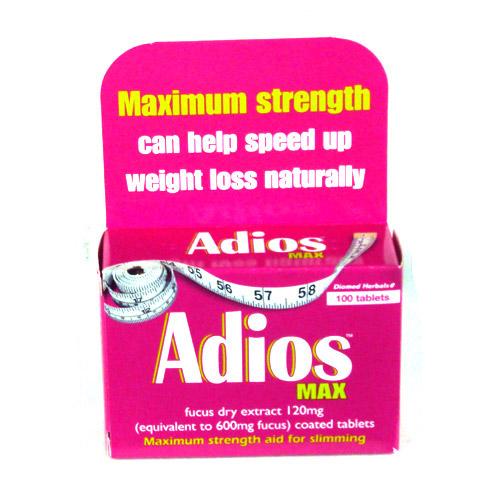 Adios Maximum Slimming Aid 100 Pack