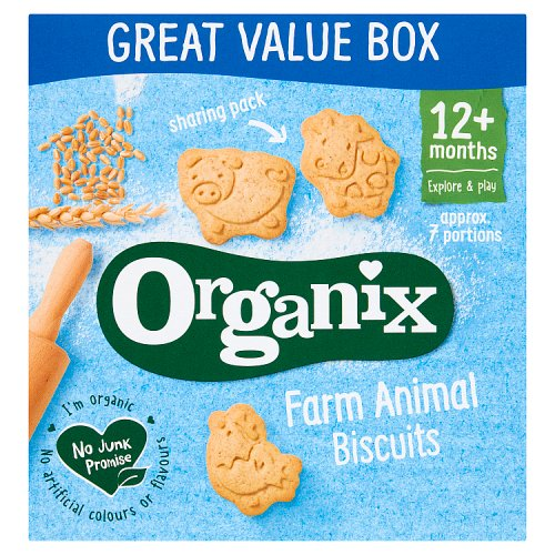 Organix 12 Month Animal Shaped Biscuits