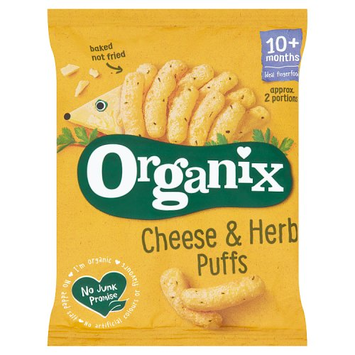 Organix 12 Month Cheese and Herb Puffs