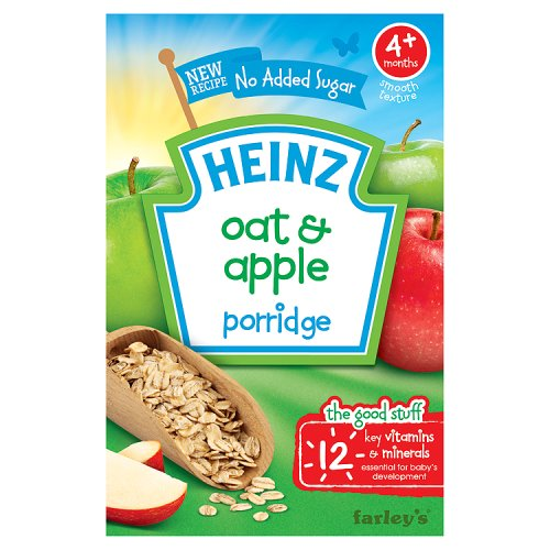 Heinz 4 Month Breakfast Oats And Apple Cereal Packet
