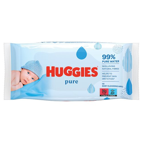 Huggies Pure Baby Wipes Fragrance Free 56 Pack