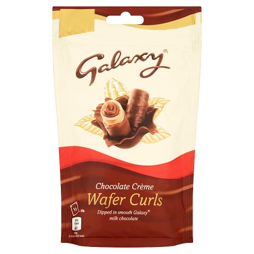 Galaxy Wafer Curls Chocolate Creme Bag
